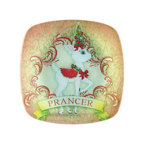 Department 56- Reindeer Tales - Jolly Prancer Plate