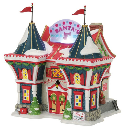 Department 56 - North Pole Village- Santa's North Pole Workshop