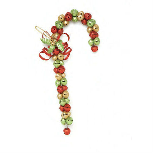 JINGLE BELL CANDY CANE DOOR HANGER