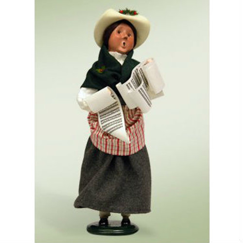 Byers Choice Woman With Sheet Music