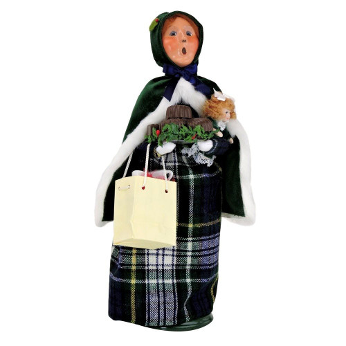 Byers' Choice Carolers Hunter Green Family Woman #108W - 2016