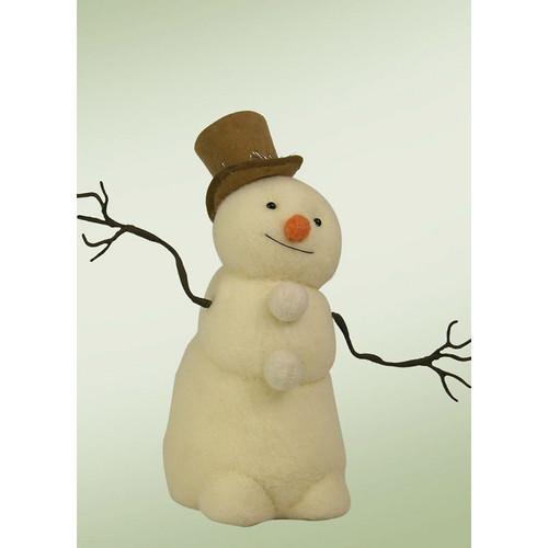 Byers' Choice Medium Felted Snowman with Top Hat