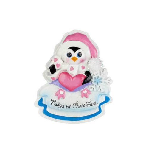 Penguin Baby's 1st Christmas Ornament