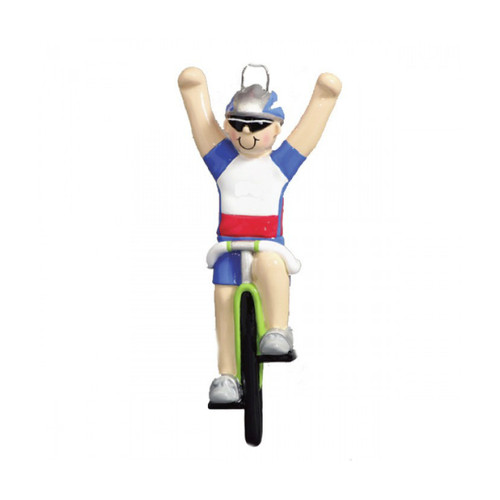 Man on Bicycle Ornament