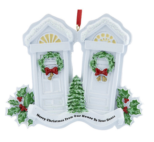 Merry Christmas House to House Ornament