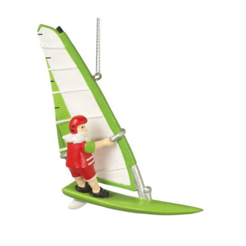 Wind Surfing Santa Ornament