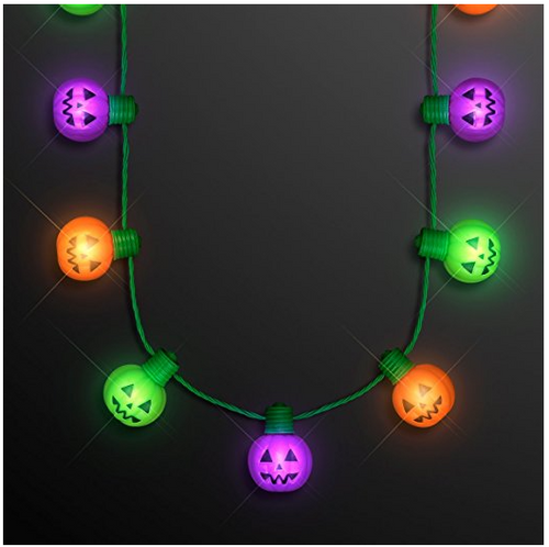 LED Pumpkin String Necklace
