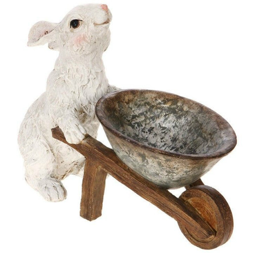"12"" Bunny with Wheelbarrow"