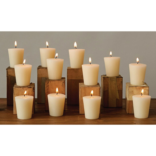 Flaire Party Pack - Pack of 12 Unscented 15-Hour Clean Burning Votive Candles