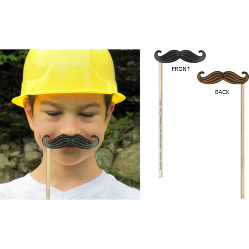 Silly Sticks - Handlebar Mustache Photo Prop - Made in USA