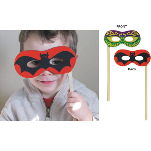 Silly Sticks - Bat/Mardi Gras Mask Photo Prop - Made in USA