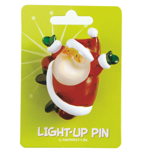 Santa Light Up Pin