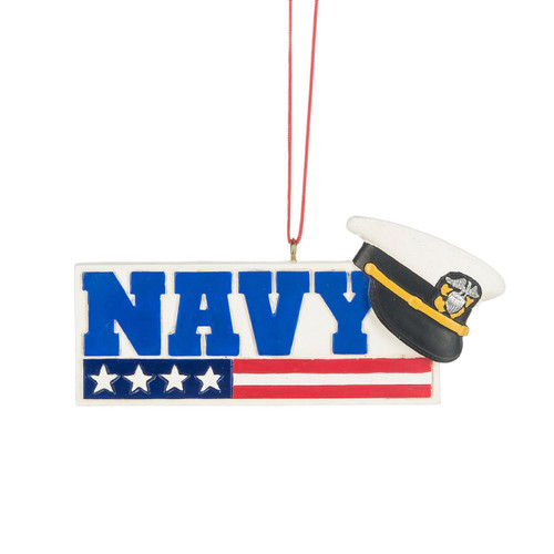 USA Navy Ornament, with Stars and Stripes and Hat