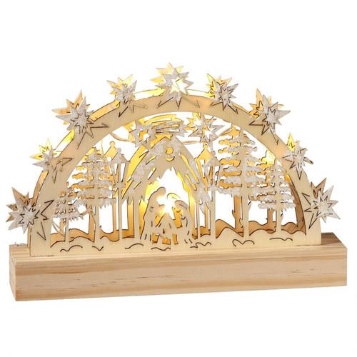 Wood Nativity Scene B/O