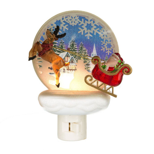 Santa with Reindeer Night Light