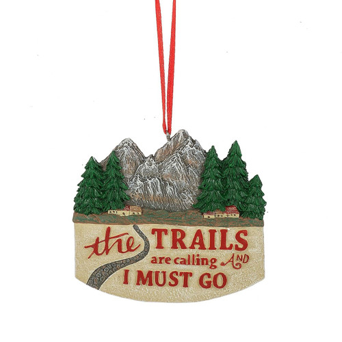 Trails Are Calling Ornament