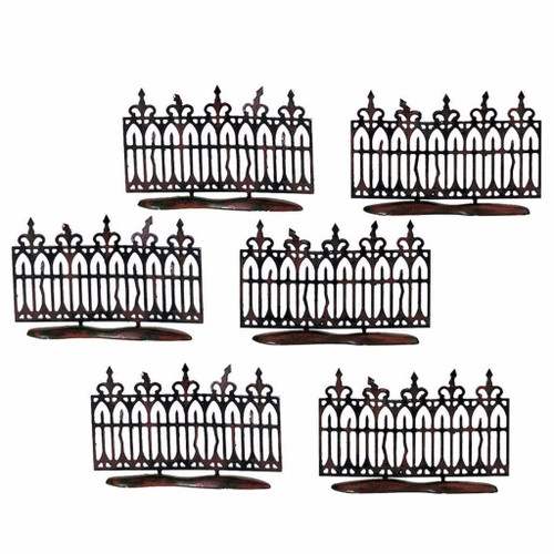 Department 56- Halloween Village- Spooky Wrought Iron Fence (Set of 6)