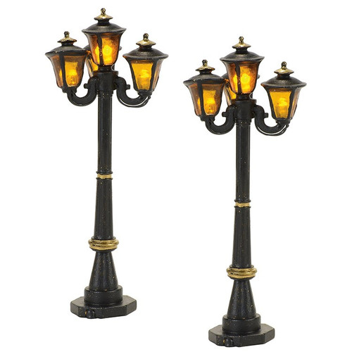 Department 56 - Dickens Village  Accessory- Victorian Street Lamps (Set of 2)