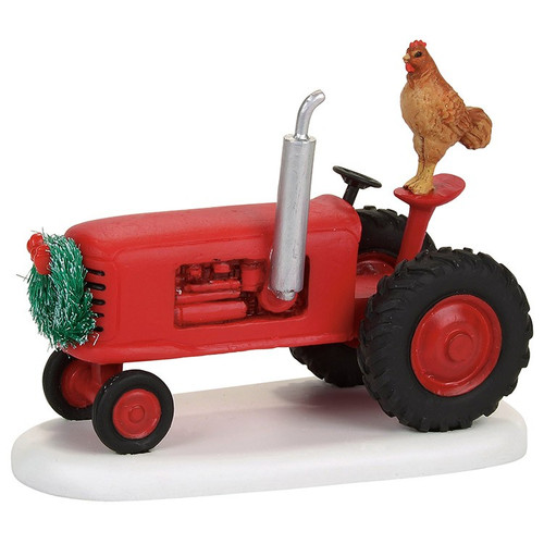 Department 56 mistletoe red tractor village accessory.