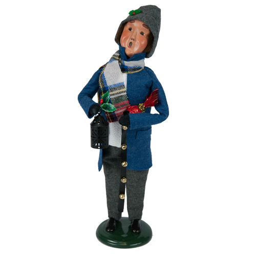 Byers' Choice - Clark Man Blue Shopper Caroler 2018