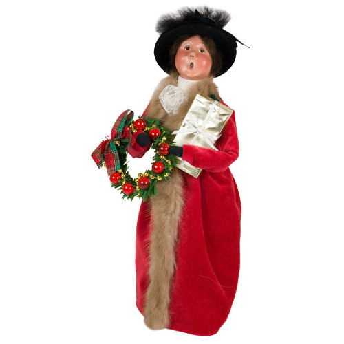 Byers' Choice - Victorian Woman with Gift Caroler 2018