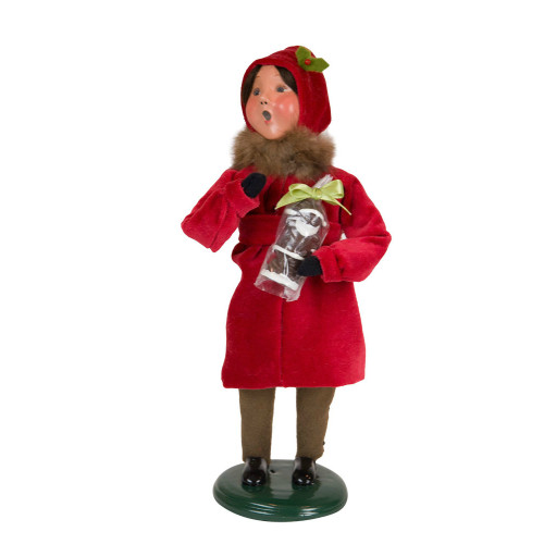 Byers' Choice - Victorian Girl with Santa Caroler  2018