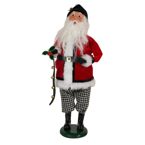 Byers' Choice - Houndstooth Santa Caroler 2018