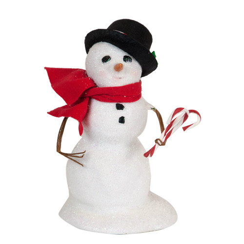 Byers' Choice - Small Snowman with Black Hat 2018