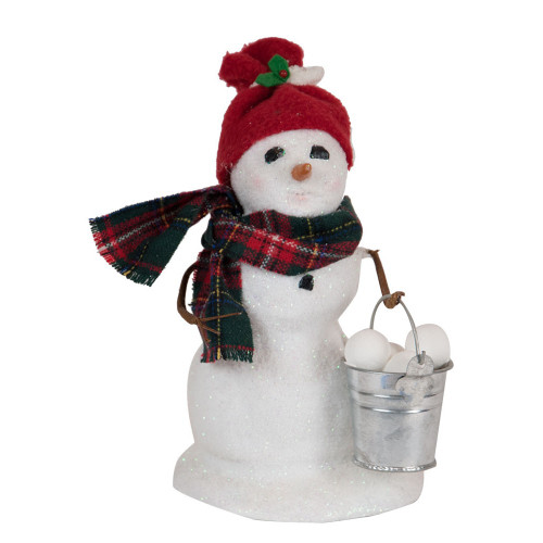 Byers' Choice - Small Snowman with Snowballs 2018