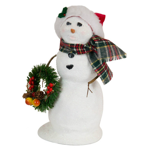 Byers' Choice - Large Snowman with Wreath 2018