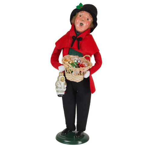 Byers' Choice - Glass Ornament Man Caroler 2018