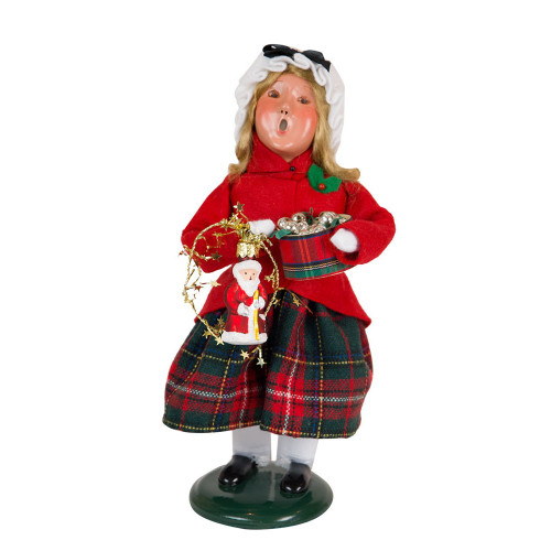 Byers' Choice - Glass Ornament Girl Caroler  2018
