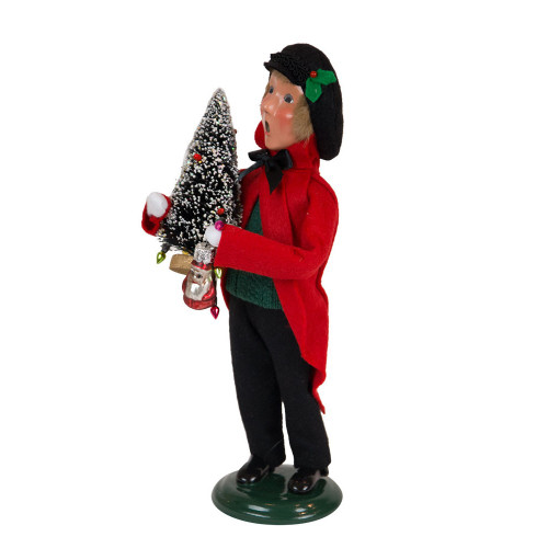 Byers' Choice - Glass Ornament Boy Caroler 2018