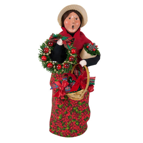 Byers' Choice - Wreath Vendor Caroler 2018