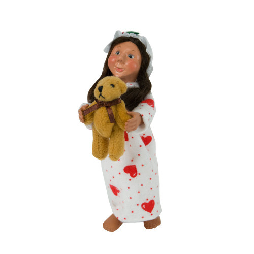 Byers Choice Toddler Girl with Teddy front image