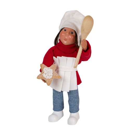 Byers' Choice Toddler Girl Baking Front Image