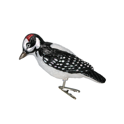 Old World Christmas- Hairy Woodpecker Clip Ornament 2018