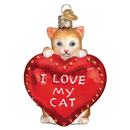 Old World Christmas- I Love My Cat Ornament 2018