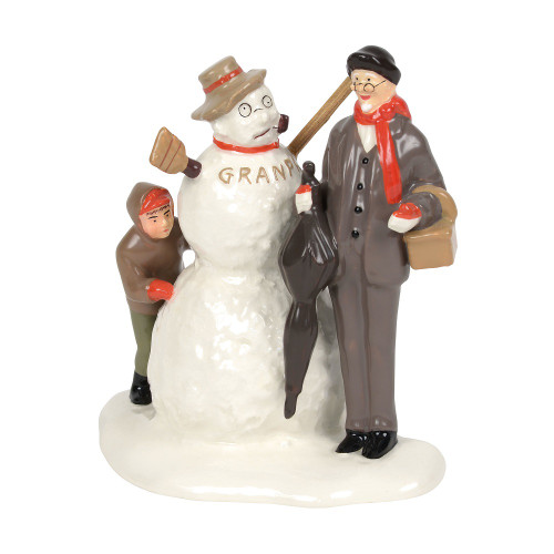 Department 56 - Original Snow Village -NR's Grandfather and Snowman 2018