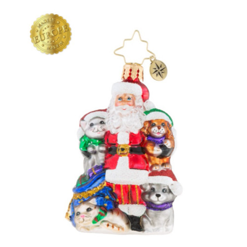 Christopher Radko - Paw for Claus Little Gem Ornament 2018