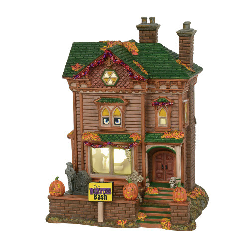 Department 56- Halloween Village- Monster Mash Party House 2018