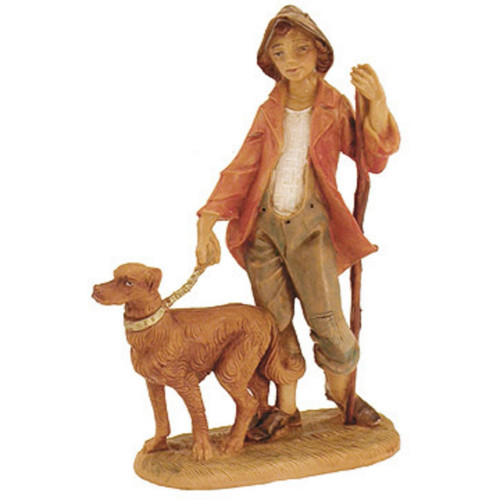 Fontanini 5-Inch Zachariah with Dog Figure