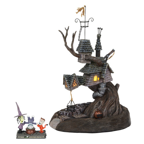 Department 56 - Nightmare Before Christmas Village - Lock, Shock and Barrel Treehouse Set of 2