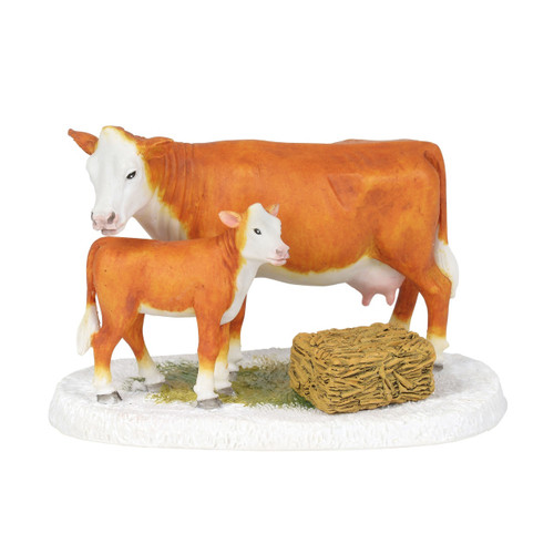 Department 56  - New England Village- Mistletoe Farm Cow and Calf 2018
