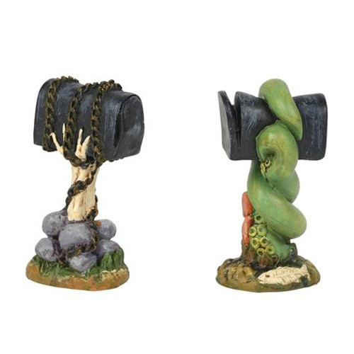 Department 56 - Halloween Village -Creepy Mailboxes (Set of 2) 2018