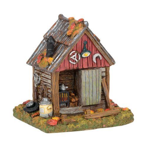 Department 56 - Halloween Village- Backwoods Tool Shed 2018