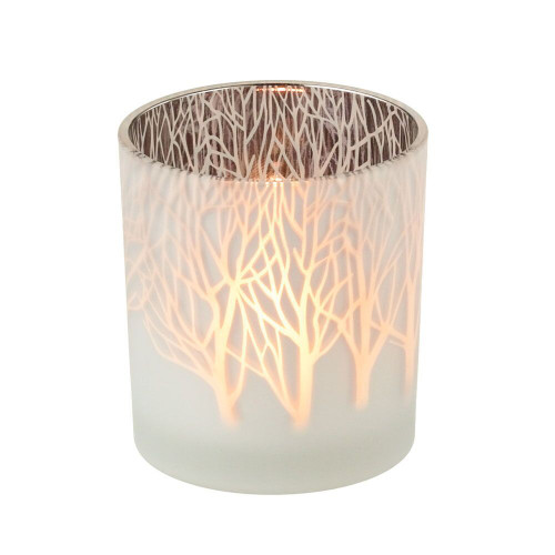 Frosted Tree Tealight Candle Holder