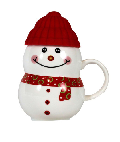 Red Cap Snowman Mug 11oz.