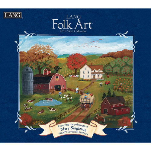 Lang Folk Art 2019 Lang Wall Calendar