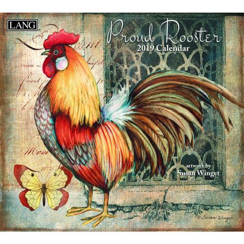 Proud Rooster 2019 Lang Wall Calendar